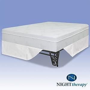 night therapy 12 pressure relief memory foam. Black Bedroom Furniture Sets. Home Design Ideas