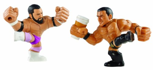 WWE Rumblers Slam City Damien Sandow and Alberto Del Rio with Coffee Cup Figure (2-Pack)