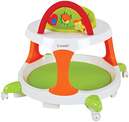 Combi Go And Grow Walker, Play Table And Chairs, Green, Small front-561698