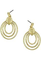 Beautiful Loop Gold Plated Dangle Earrings
