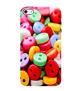 ASSORTED MULTICOLOURED BUTTONS 3D Hard Polycarbonate Designer Back Case Cover for Apple iPhone 4S