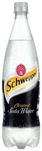 Schweppes Original Soda Water Bottle 1 Litre (Pack of 12)