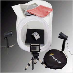 CowboyStudio Table Top Photography Studio Lighting Tent Kit in a Box - 1 Tent, 2 Light Set, 1 Tripod, 1 Display Table Top