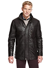 Blue Harbour Crunched Leather Jacket