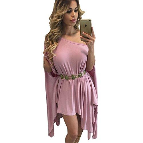 meinice senza spalline asimmetrico Drape Club Dress Pink Taglia unica