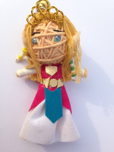 Princess Zelda from Legend of Zelda: Skyward Sword Voodoo String Doll Keychain link - 1