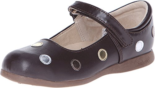 Footmates Girl'S Dot (Toddler/Little Kid) Brown/Multi Flat 9.5 Toddler M/W front-464706