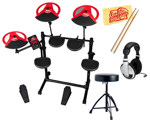 Ddrum Dd Beta Compact 5-Piece Electronic Drum Kit Bundle With Drum Throne, Headphones, Drumsticks, And Polishing Cloth