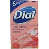 Dial Pure Fruta Guava & Water Melon Glycerin Soap -6 Bars (Made In U.S.A)