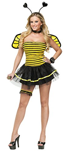 Funworld Womens Busy Bee Insects Sexy Adults Theme Party Fancy Halloween Costume