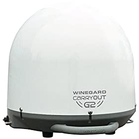 Winegard GM-2000 White Carryout G2 Automatic Portable Satellite TV Antenna