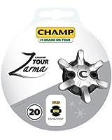 Champ SACHZAAD20 Crampons de golf à Système Pin Zarma 20 pack mixte adulte 10 x 10 x 3 cm