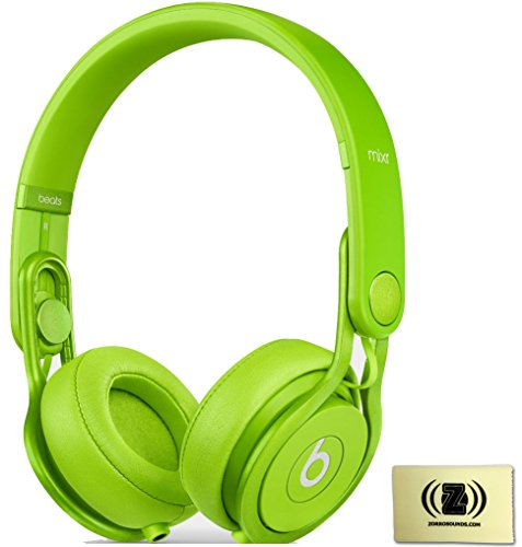 Beats By Dr. Dre Green Mixr On-Ear Dj Headphones Bundle With Zorro Sounds Cleaning Cloth
