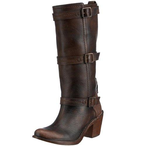 Frye Women's Carmen 3 strap Boot Dark Brown 77851DBN6 4 UK D