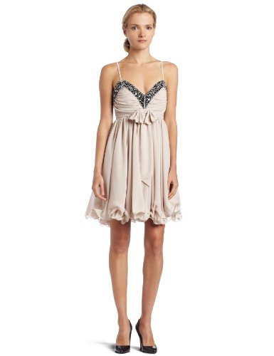 French Connection Women's Pretty Penelope Dress, Almond, 10