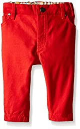 Little Green Radicals Harlequin Jeans (Baby) - Red-6-9 Months