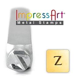 ImpressArt- 6mm, Zeta Greek Letter Stamp