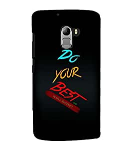 Fuson Premium Back Case Cover Do your best With Red Background Degined For Lenovo K4 Note