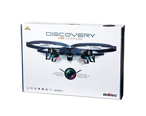 Latest UDI U818A WiFi FPV RC Quadcopter Drone with HD Camera - 2.4GHz 4 CH 6 Axis Gyro RTF Includes BONUS BATTERY + Power Bank (Quadruples Flying Time)