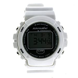 Adrenaline By Freestyle Digital Sport Watch Chronograph Alarm White