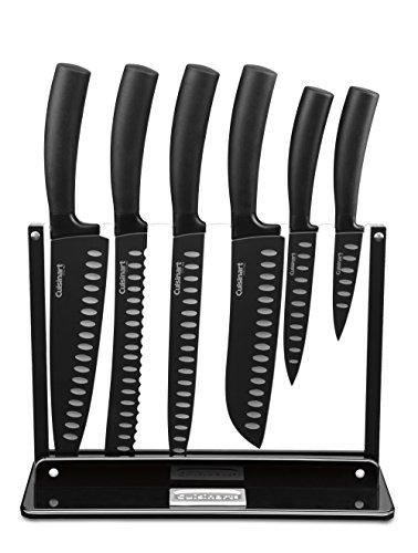 Set de Cuchillos Cuisinart de 7 piezas con estante de acrílico, negro
