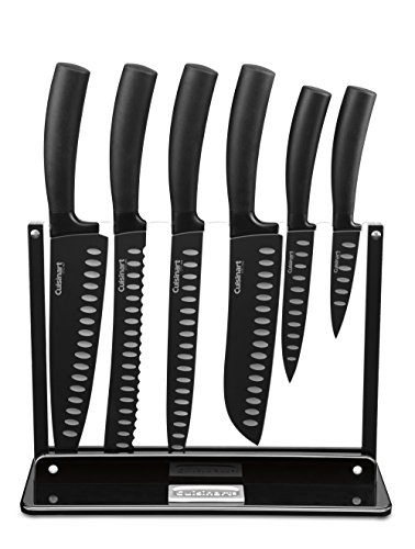 Cuisinart 7-Piece Nonstick Cutlery Knife Set with Acrylic Stand, Black (Black Acrylic Stand compare prices)