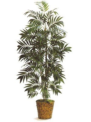 Bamboo Palm Silk Artificial Palm Tree Plant 8′