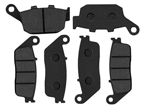 3 Pair Front & Rear Disc Brake Pads Fit For HONDA STREET BIKE CBR 250 RR (MC22) 1990 1991 1992 1993 1994 arashi 1 pcs cb400 1992 1998 cnc rear brake disc rotor for honda cb 400 1992 1993 1994 1995 1996 1997 1998 brake rotors