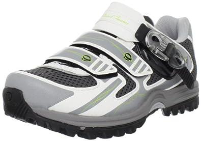 Pearl iZUMi Women's X-ALP Enduro III Cycling Shoe,White/Silver,36 EU/4.5 D US