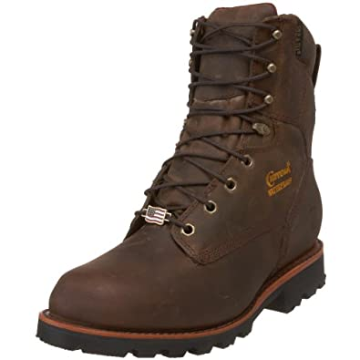 "Amazon.com: Chippewa Men's 29416 8"" Waterproof Insulated Work Boot"