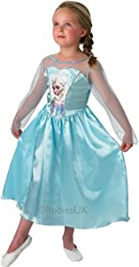 Disney Frozen Girls Elsa Fancy Dress Party Costume - 11-12 Years