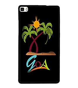 printtech Goa Beach Back Case Cover for Huawei Honor P8