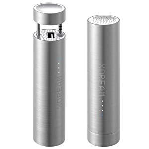 XDREAM X-Power Plus - Power Bank and Speaker Stand - Retail Packaging - Brushed Aluminum/White