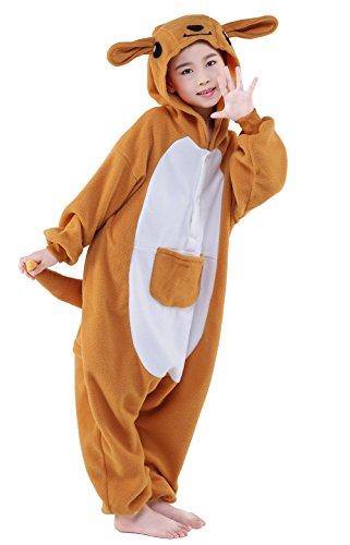 [NEWCOSPLAY Children's Onesie Pajama Cosplay Costume (125, kangaroo)] (Childrens Kangaroo Costume)