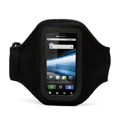 41UsgYsERuL + Elegant OEM VG Brand Black Armband with Sweat Resistant lining for HTC Evo 4G and Evo Shift 4G Android Phone + Live * Laugh * Love VanGoddy Wrist Band!!! On Sale
