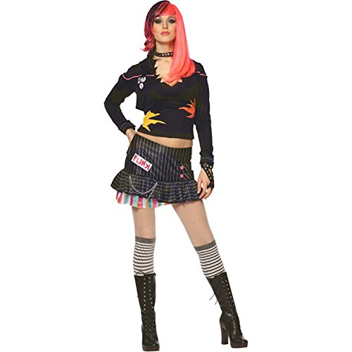 Adult Punk Rock Girl Costume (Size: X-Small 0-2)