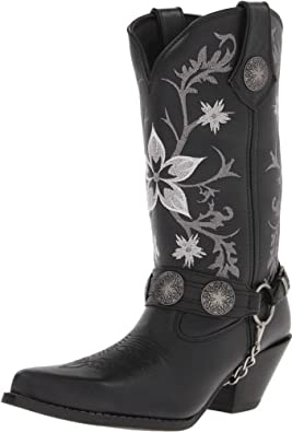 Buy Durango Ladies Crush Floral Harness Boots 8.5 Blk by Durango