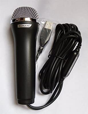Logitech Konami USB Wired Black Microphone for Wii PS2 PS3 XBox 360 & PC from Logitech
