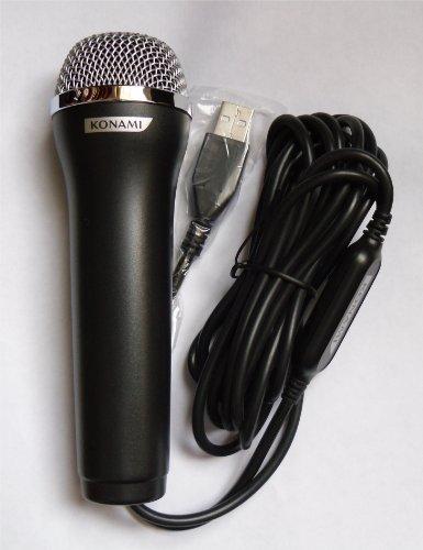 Logitech Konami USB Wired Black Microphone (Wii)