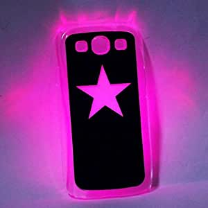 New Sense Flash Light Glow LED Color Changing Star Pattern Protective Back Case for Samsung SIII i9300