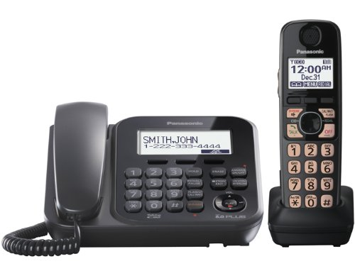 Panasonic KXTG4771B DECT 6.0 Expandable Single Handset Cord/Cordless Digital Answering System