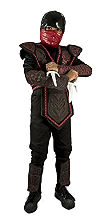 Red Skull Warriror Ninja Costume with Sais Accessories