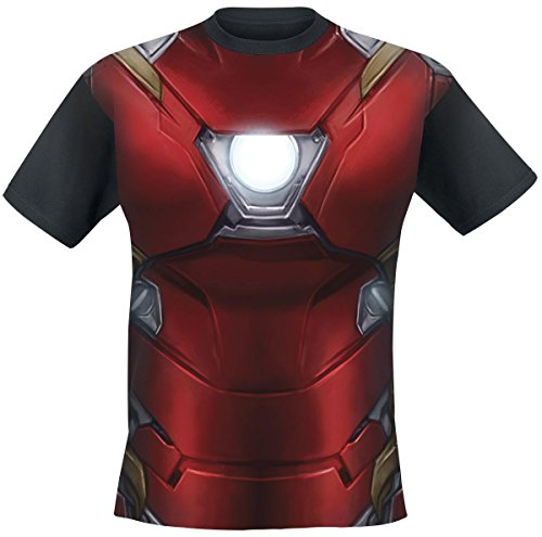 Maglietta Captain America Civil War T Shirt Iron Man Chest Size L CODI