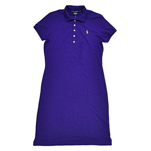 Ralph Lauren Sport Womens Mesh Polo Dress (Chalet Purple, Large)