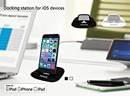 AEDILYS® 2In1 8 Pin Cradle Sync&Charger Dock Stand For Iphone 6 6Plus 5S Ipad Ipod(black)