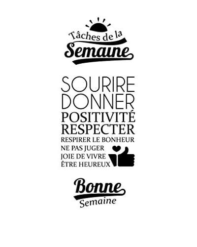 ZZ-Ambiance-sticker Vinilo Decorativo Tâches De La Semaine