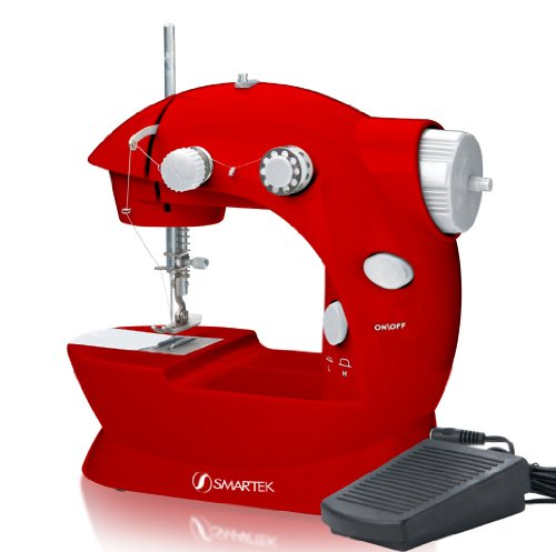Smartek RX-08 Mini Sewing Machine with Pedal, Red (Paper Sewing Machine compare prices)