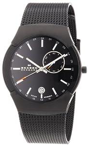 Skagen Men's 983XLBB Black Label Black Mesh Band Watch