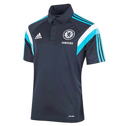 2014-15 Chelsea Adidas Polo Shirt (Dark Marine)