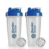 BlenderBottle Classic Shaker Bottle, 28-ounce, Blue (2-Pack), 28oz/Blue